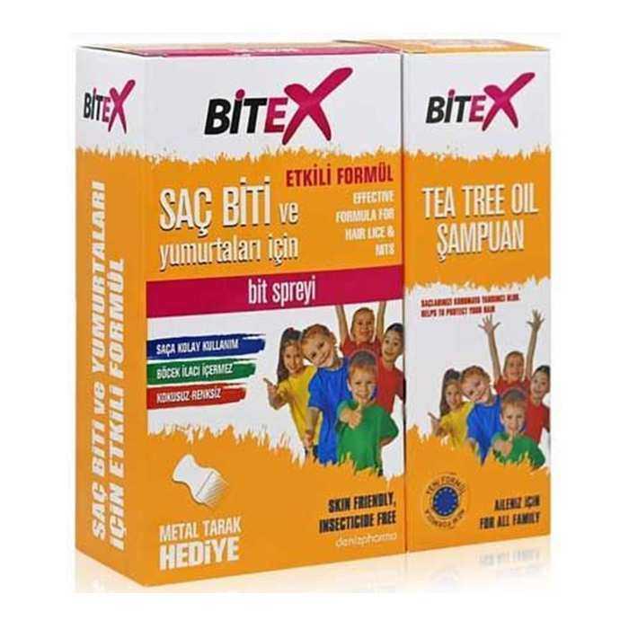 Bitex Bit Spreyi 100 ml + Şampuan 150 ml Çelik Tarak Hediyeli