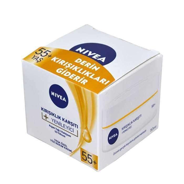 Nivea 55 Yaş Üstü Kırışıklık Karşıtı Krem  50 ml