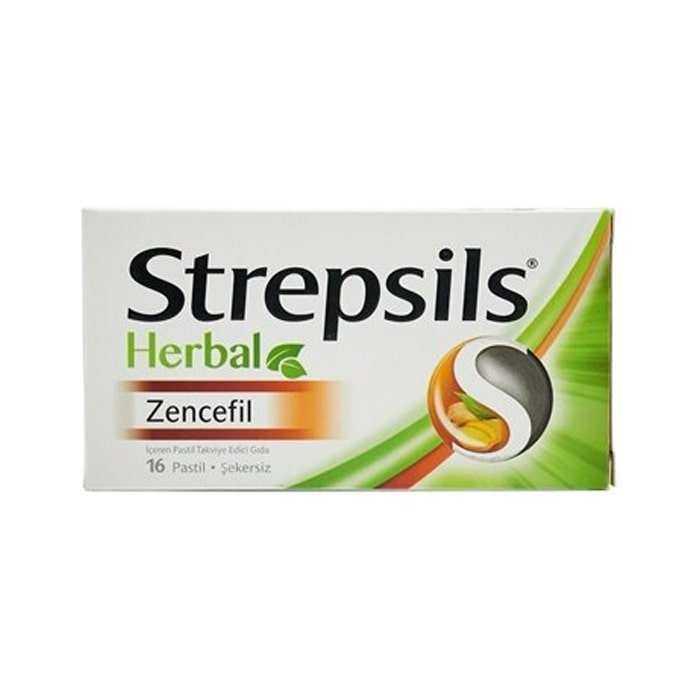 Strepsils Herbal Zencefil Aromalı 16 Pastil
