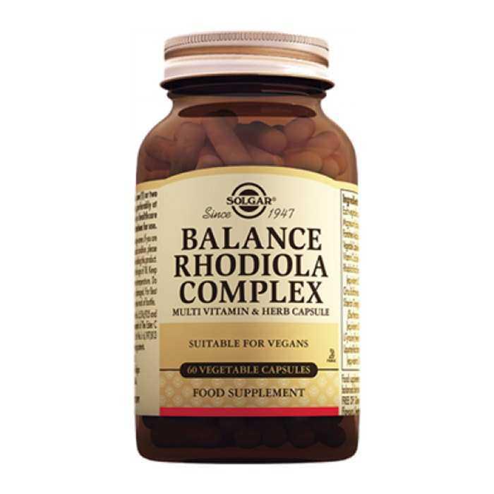 Solgar Balance Rhodiola Complex 60 Kapsül