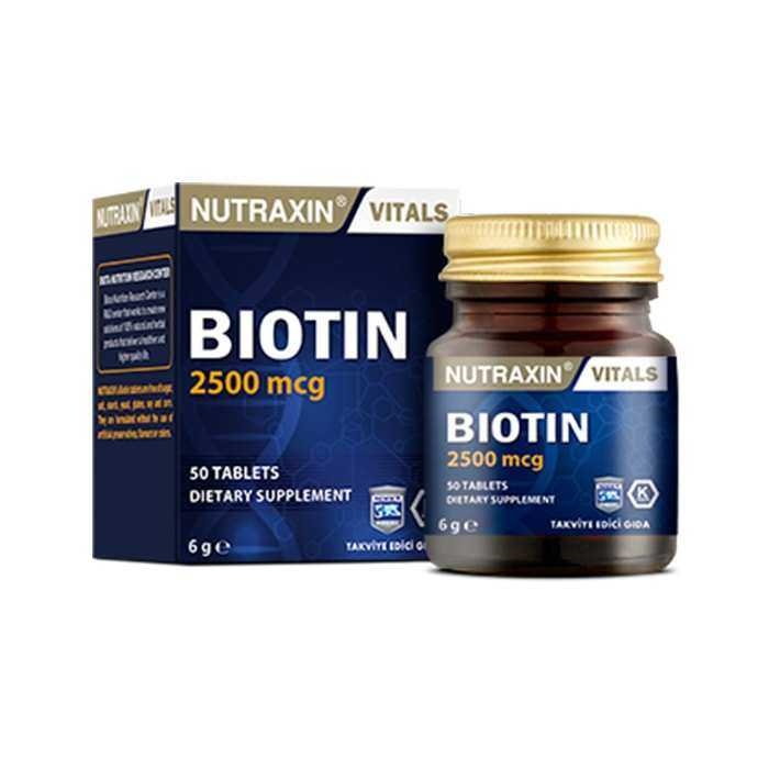 Nutraxin Biotin 2500 mg 50 Tablet