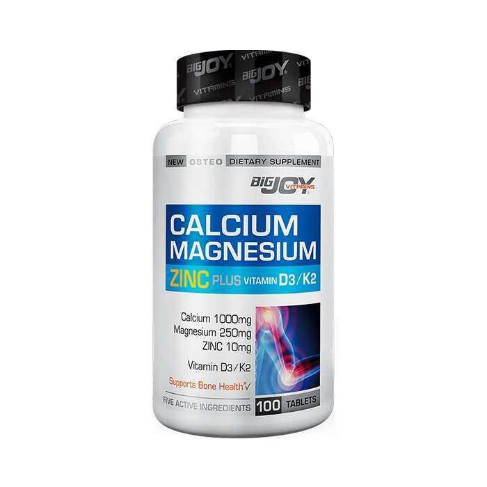 Big Joy Calcium Magnesium Zinc K2 D3 100 Tablet