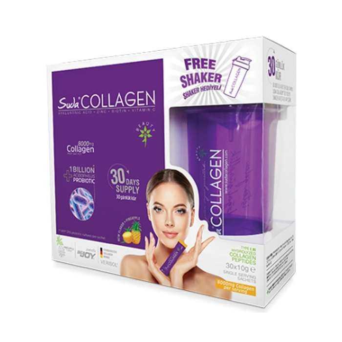 Suda Collagen Probiotic Ananas Aromalı 10gr x 30 Saşe - Shaker Hediyeli