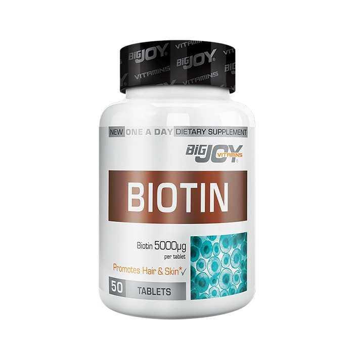 Big Joy Biotin 5000 mcg 50 Tablet