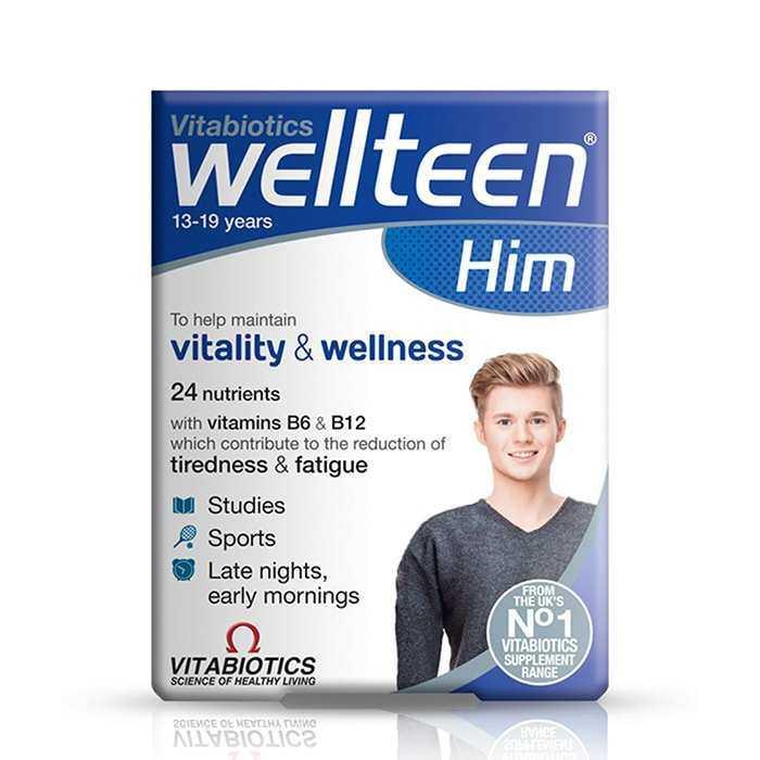 Wellteen Him 13-19 Years Vitabiotics 30 Tablet