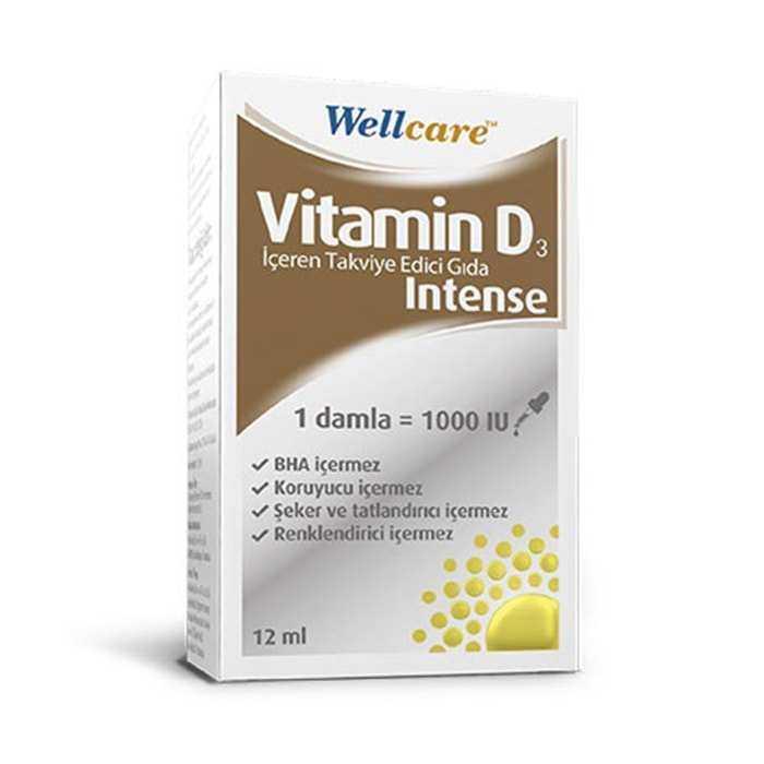 Wellcare Vitamin D3 Intense 1000 IU 12 ml