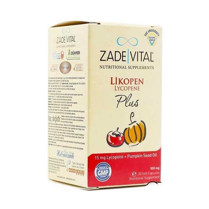 Zade Vital Likopen Plus 500 mg 30 Kapsül