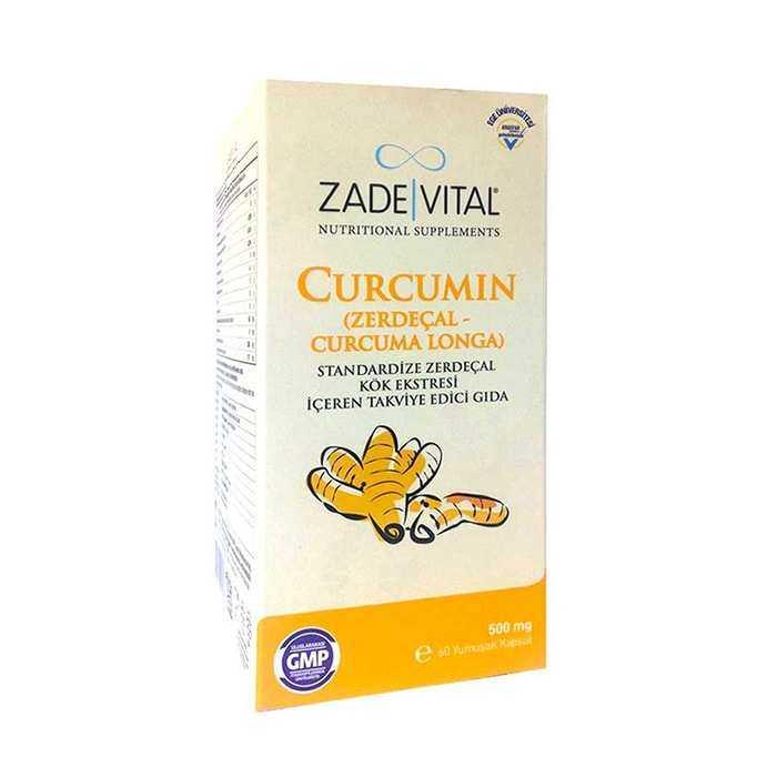 Zade Vital Curcumin Zerdeçal Yağı 500 mg 60 Kapsül