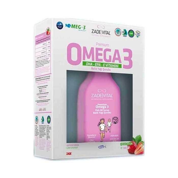 Zade Vital Omega 3 Balık Yağı Şurubu Çilek Aromalı 100 ml