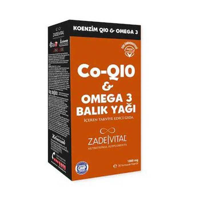 Zade Vital Koenzim Q10 & Omega 3 Balık Yağı 30 Kapsül - İkincisi %50 İndirimli