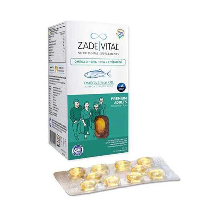 Zade Vital Omega 3 Premium Adults (Yetişkinler İçin) 50 Kapsül