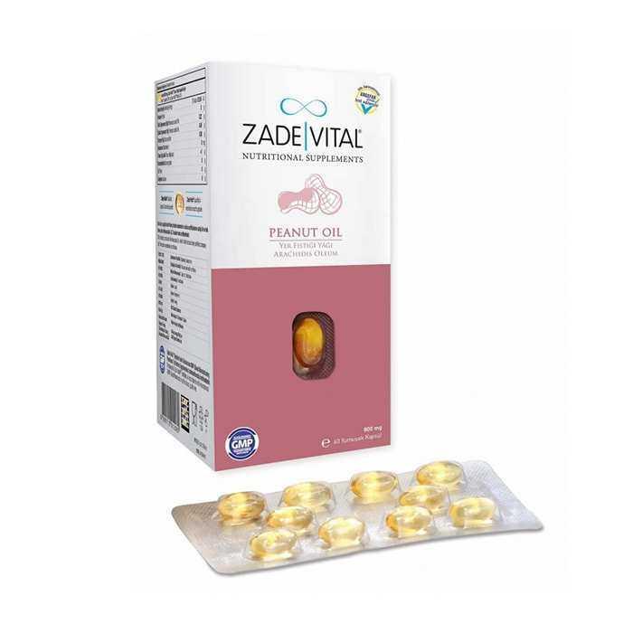 Zade Vital Fıstık Yağı 800 mg 60 Kapsül