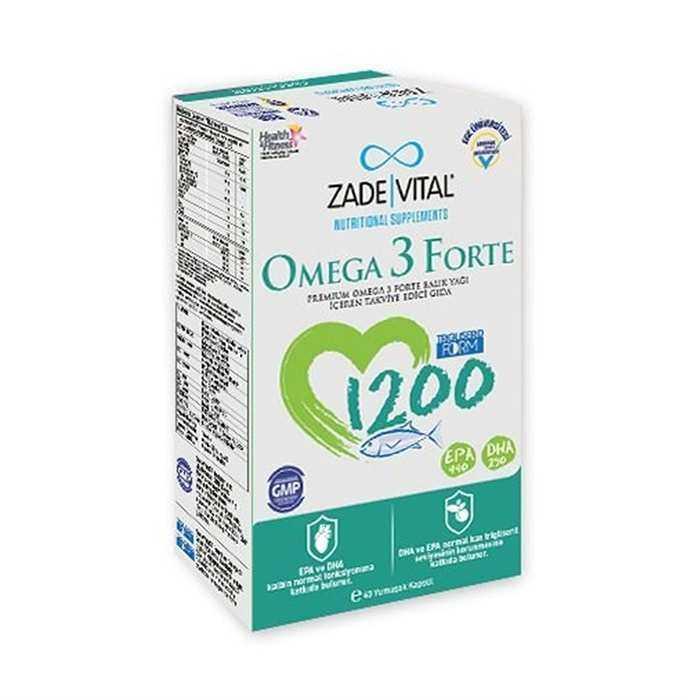 Zade Vital Omega 3 Forte 40 Yumuşak Kapsül