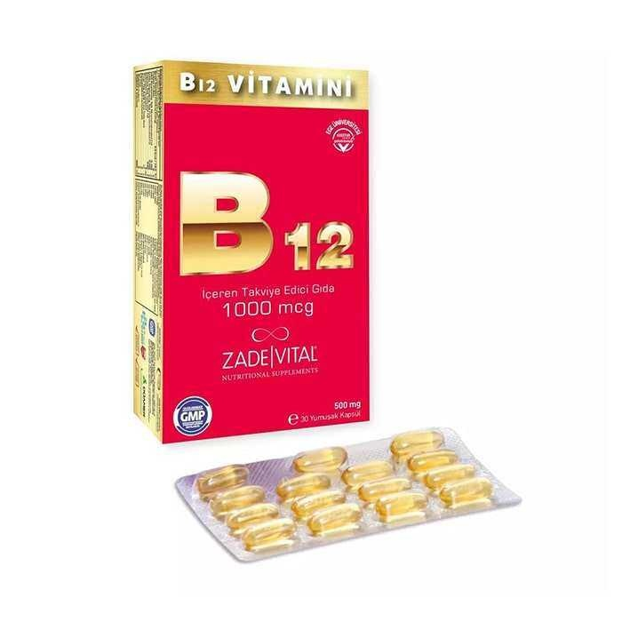 Zade Vital B12 Vitamini 1000 mcg 30 Kapsül
