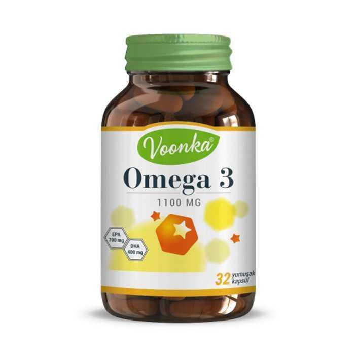 Voonka Omega 3 1100 mg 32 Yumuşak Kapsül