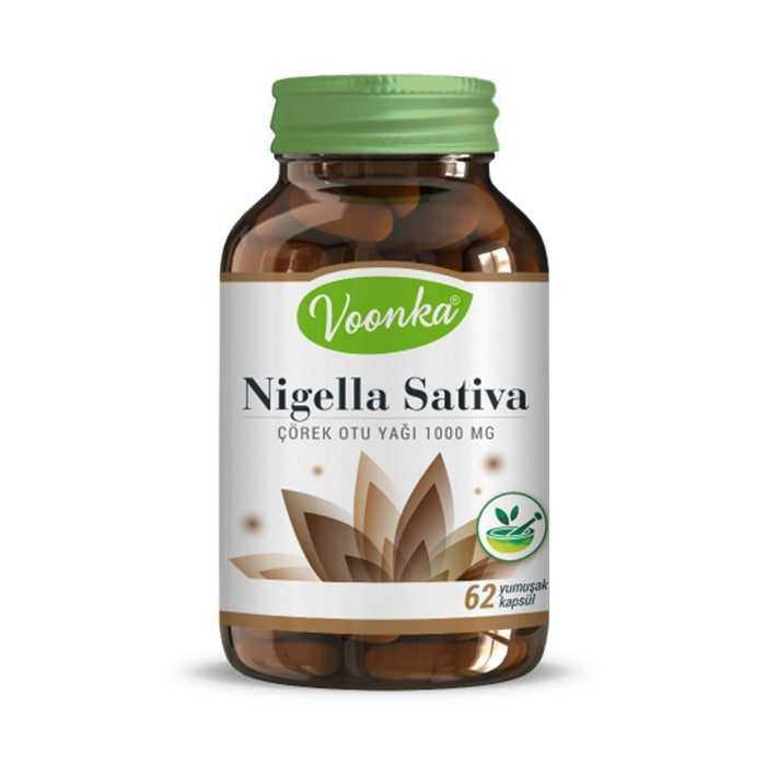 Voonka Çörek Otu Yağı 62 Kapsül (Nigella Sativa)