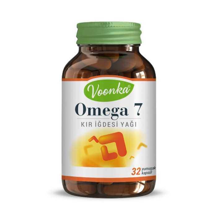 Voonka Omega 7 Kır İğdesi Yağı 500 mg 32 Yumuşak Kapsül