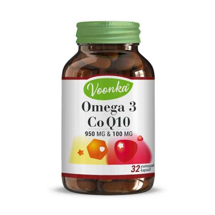 Voonka Omega 3 Co Q10 32 Kapsül