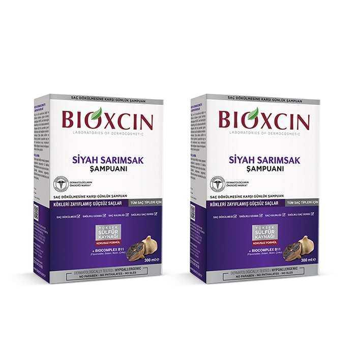Bioxcin Siyah Sarımsaklı Şampuan 2x300 gr