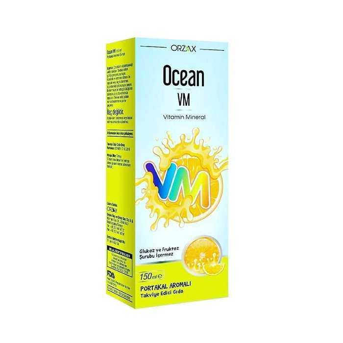 Ocean Vitamin Mineral VM Şurup Portakal Konsantreli 150 ml