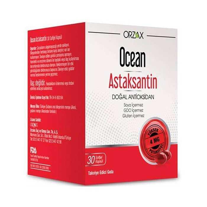 Ocean Astaksantin 30 Kapsül