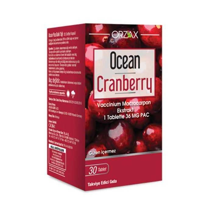 Ocean Cranberry Turna Yemişi Ekstresi 36 mg Pac 30 Tablet