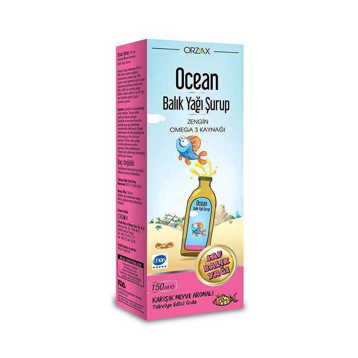 Ocean Balık Yağı Karışık Meyve Aromalı Şurup 150 ml