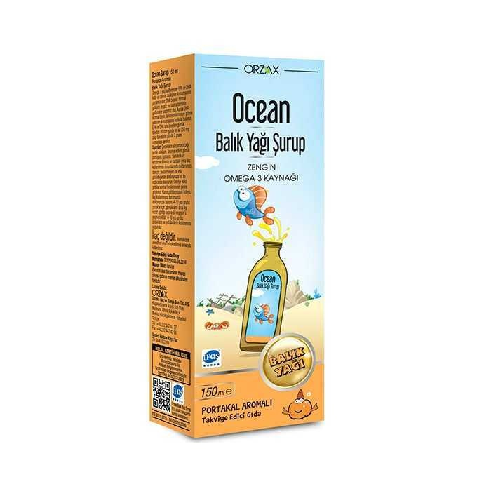Ocean Balık Yağı Portakal Aromalı Şurup 150 ml