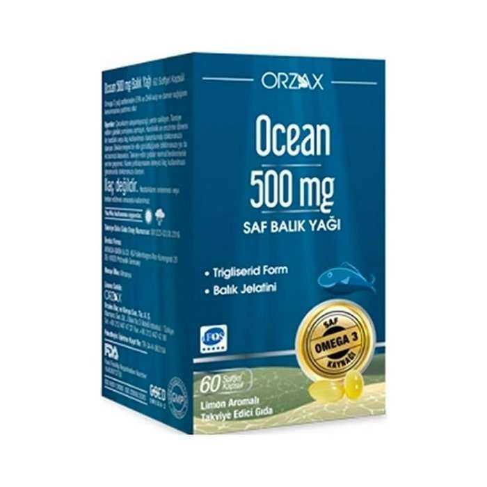 Ocean Omega 3 Balık Yağı 500 mg 60 Kapsül