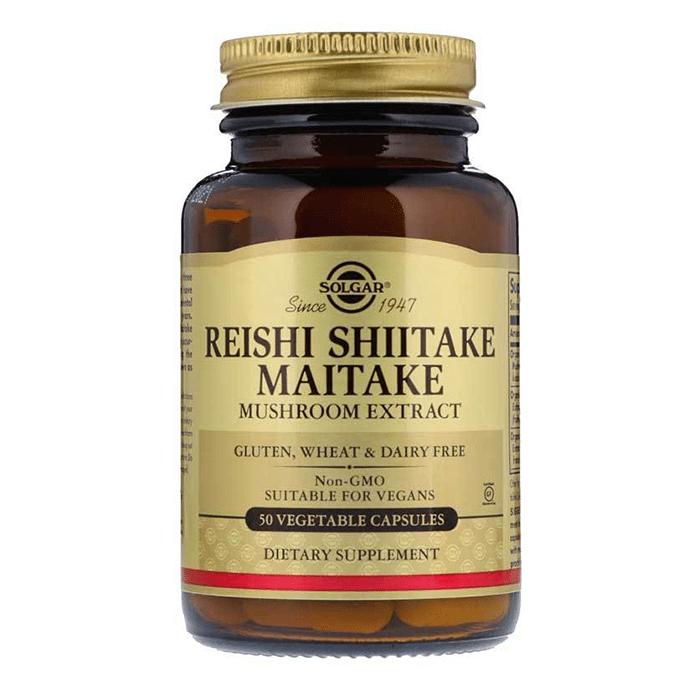 Solgar Reishi Shiitake Maitake Mushroom Extract 50 Kapsül