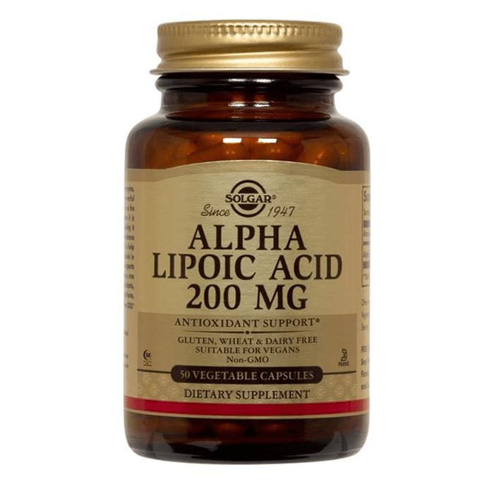 Solgar Alpha Lipo Acid 200 mg 50 Kapsül