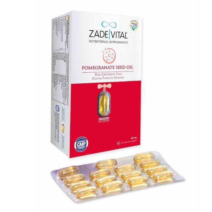 Zade Vital Nar Çekirdeği Yağı 400 mg Blister 60 Kapsül