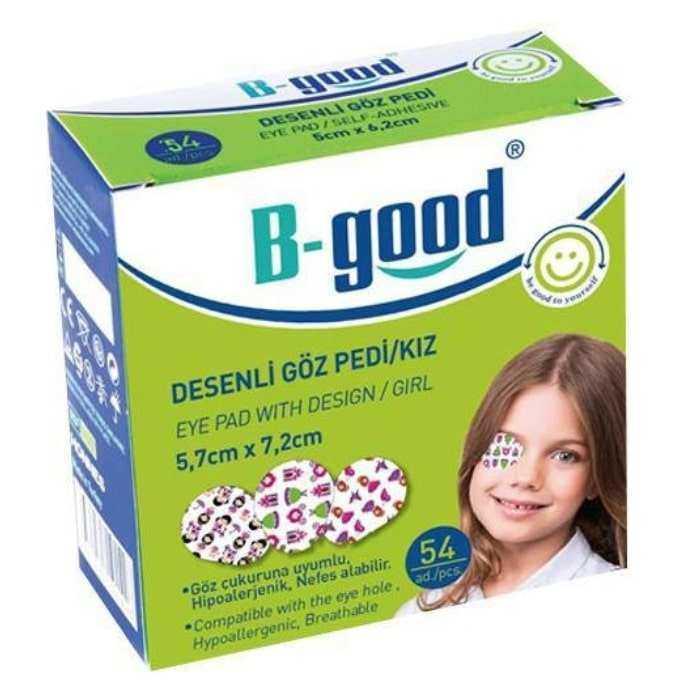 B-Good Desenli Göz Pedi Kız 5,7cm x 7,2cm - 54 Adet