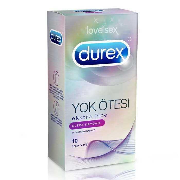 Durex Yok Ötesi Ultra Kaygan 10'lu Prezervatif