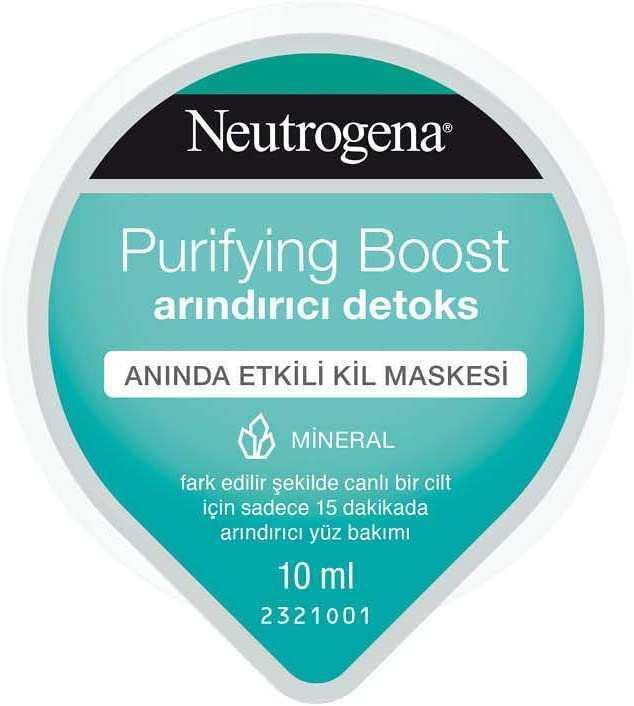 Neutrogena Purifying Boost Arındırıcı Detoks Krem Maske, 10 ml