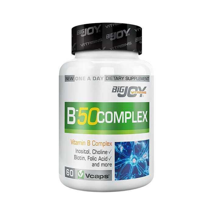 Big Joy Vitamin B-50 Complex 60 Kapsül