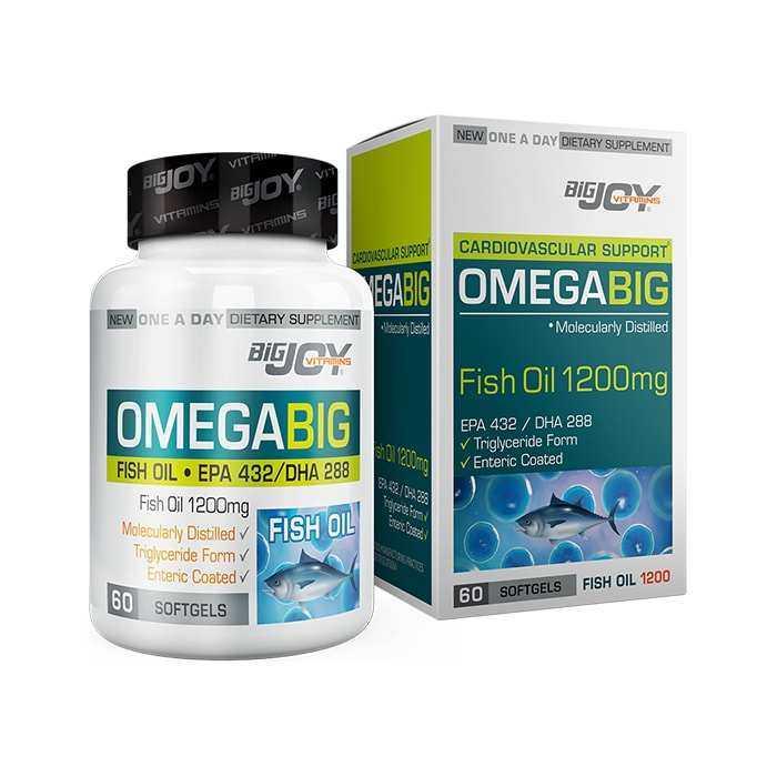 Big Joy Omega Big 1200 mg 60 Yumuşak Kapsül